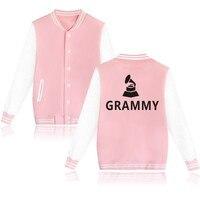 Sıcak Satış Grammy Ödülleri Logo Beyzbol Hoodie Kadınlar Hip Hop Stresswear Giysi Ve Ödülleri Ile Kadın Kazak Düğmeleri IÇIN XXS 4XL