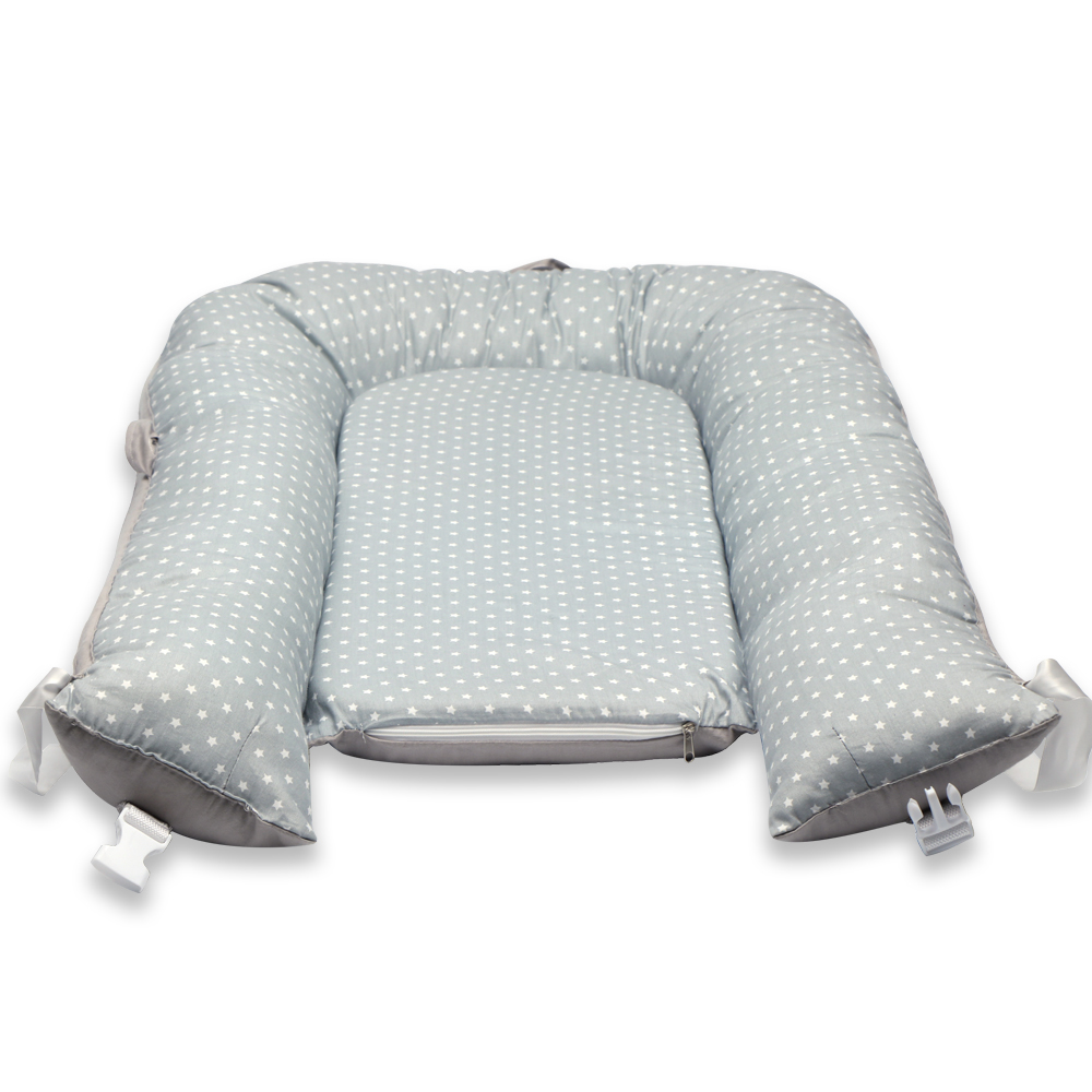 Portable Toddler Lounger - Perfect For Co-Sleeping Portable Toddler Bed & Crib To Bed Transition - Breathable Hypoallergenic Non