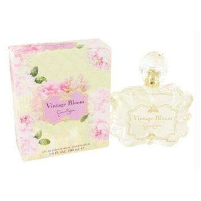Jessica Simpson Vintage Bloom by Jessica Simpson Eau De Parfum Spray 3.4 oz jessica simpson women s green chiffon shift dress