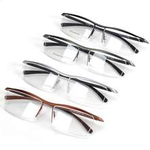 Browline Halb Felge Titan Metall Brille Rahmen für Männer Brillen Mode Kühle Optische Brillen Mann Brillen Rezept Rahmen