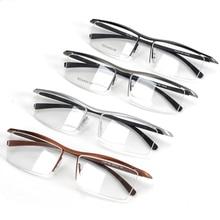 Browline Half Rim Titanium Metal Glasses Frame for Men Eyeglasses Fashion Cool Optical Eyewear Man Spectacles Prescription Frame