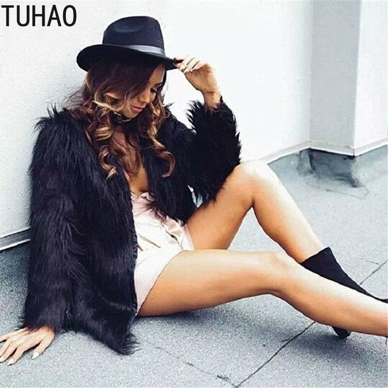 TUHAO femmes fourrure manteau et veste moelleux chaud fausse fourrure manteau femmes fausse fourrure hiver manteau femelle 2018 partie décontracté fourrure pardessus