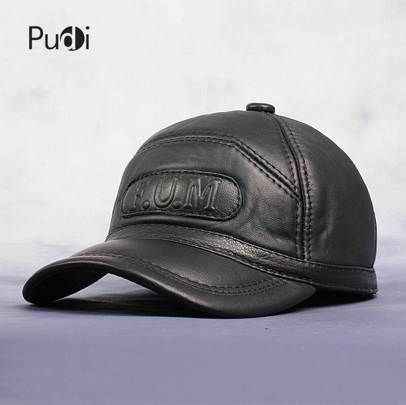 HL062 New Men s 100 Genuine Leather Baseball Cap Newsboy Beret Cabbie Hat HatS brand Hat