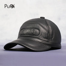 Bargain HL062 New Men's 100% Genuine Leather Baseball Cap /Newsboy /Beret /Cabbie Hat HatS/brand Hat Caps with fur inside deal