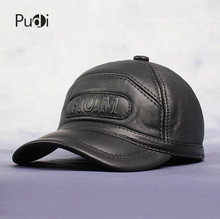 HL062-2 New  Men's 100% Genuine Leather Baseball Cap /Newsboy /Beret /Cabbie Hat/ Golf HatS/brand Hat Caps цена