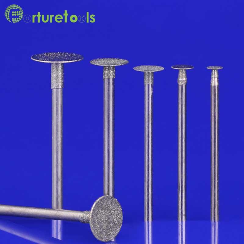 50pcs قطر الماس نصب شده نقطه چرخش dremel چرخ - ابزار ساینده