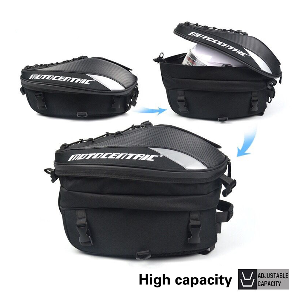 Image 3 - New Motorcycle High Capacity Rider Backpack Multi functional Durable Rear Motorcycle Seat BagTop Cases   -