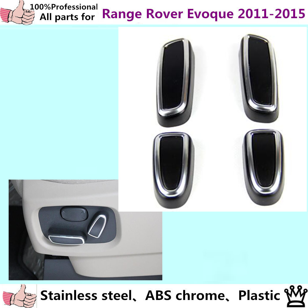 Car styling chrome abs seat adjustment knob button switch trim panel car styling chrome abs seat adjustment knob button switch trim panel frame lamp parts 4pcs for range rover evoque 2011 2015 in interior mouldings from aloadofball Image collections
