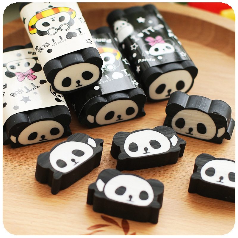 Animal Panda Eraser For School Kids , Can Be Cut Into Pieces , Cuttable Pencil Eraser