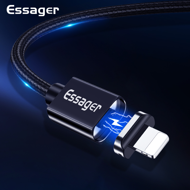 Essager Magnetic Cable For <font><b>iPhone</b></font> X Xr Xs Max Magnet USB Charging Cable for <font><b>iPhone</b></font> 8 7 6 <font><b>6s</b></font> 5 5s 4 Charger Cable Wire Cord <font><b>Cabel</b></font> image