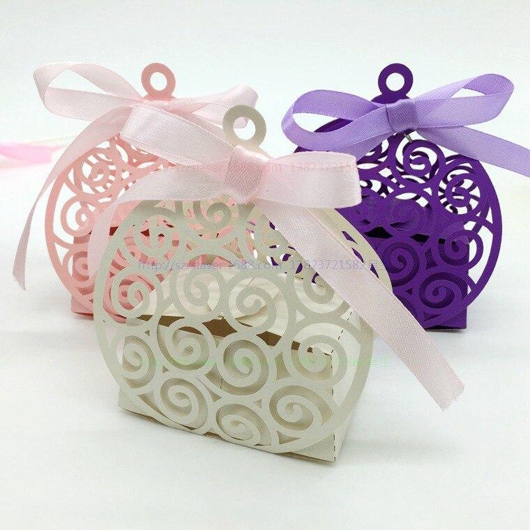 comprar unids corte lser cajas del favor de la boda regalos de boda para invitados recuerdos de boda cajitas caramelo dulces recuerdos