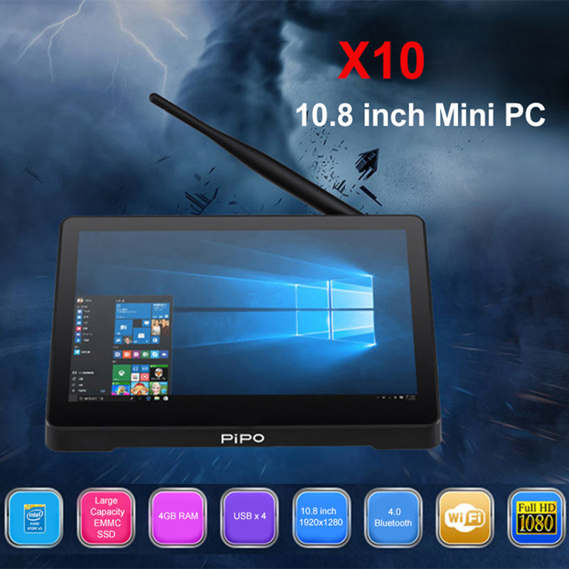 PIPO X10 Intel Cherry trail Z8350 Mini PC Windows 10 4GB + 32GB ROM 2.4G WIFI 100Mbps BT4.0 Tablet PC 10.8inch IPS touch control