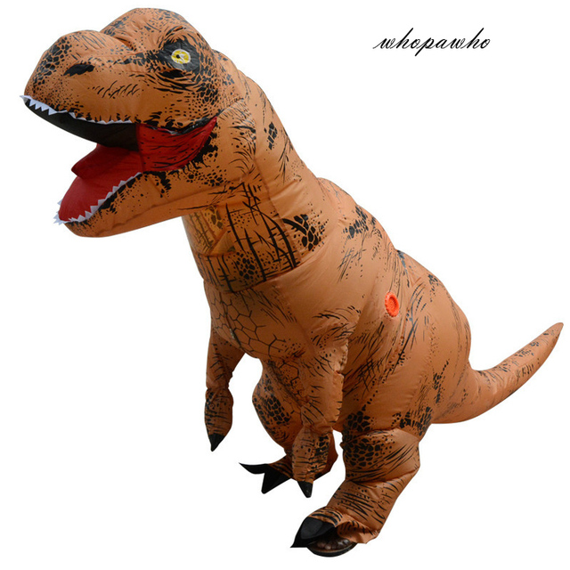 INFLATABLE Dinosaur T REX Costumes women Blowup Adult T-Rex Dinosaur Cosplay Halloween Inflatable costume mascot Party Dress