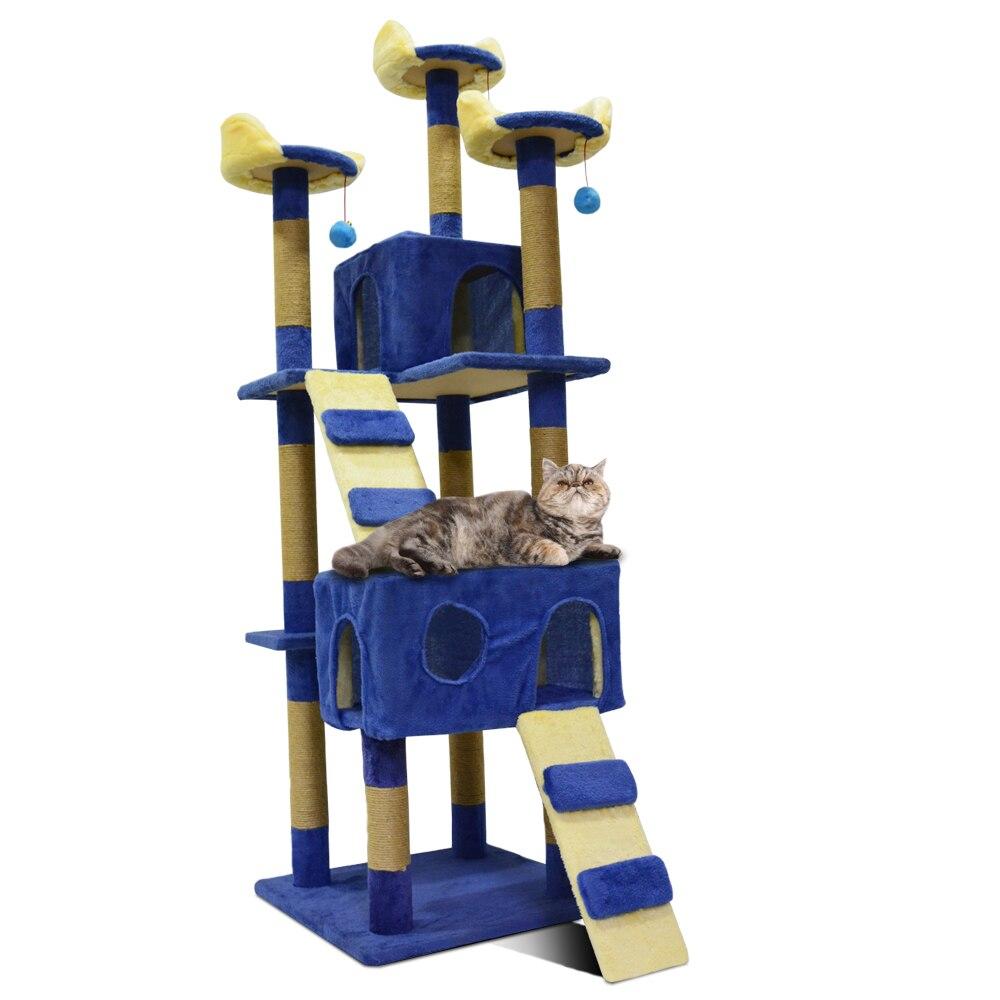 Кошка дерево Кошка Когтеточка царапина коврик высокое качество кошка игрушка Luxlury кошка мебель товары для животных LB 0005 Blue