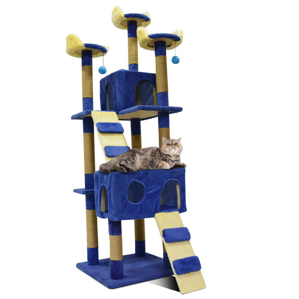 Cat Tree Cat Scratching Post Scratch Pad High Quality Cat Toy Luxlury Cat Furniture Pet Products LB 0005 Blue