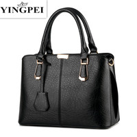 Women Leather Handbags Hot Medium Shoulder Bags Luxury Women Messenger Bag 2016 Famous Brands Female Tote
