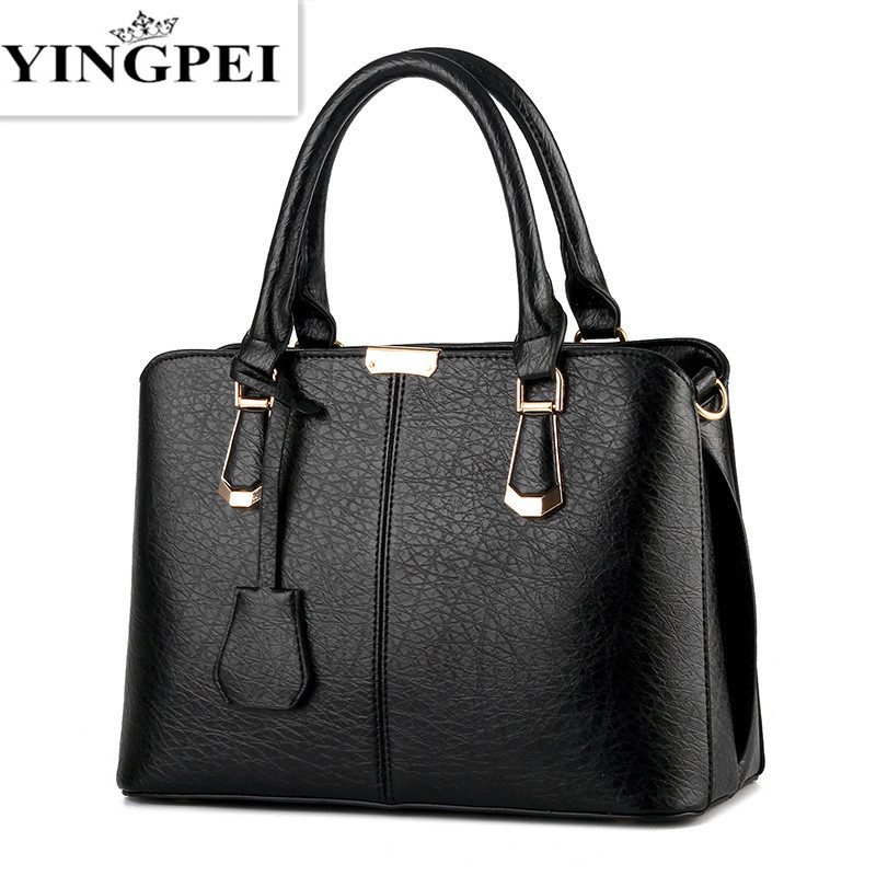 YINGPEI Women Leather Handbags Hot Medium Shoulder Bags Luxury Women Messenger B