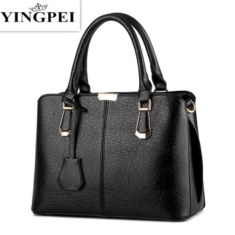 YINGPEI font b Women b font Leather font b Handbags b font Hot Medium Shoulder font