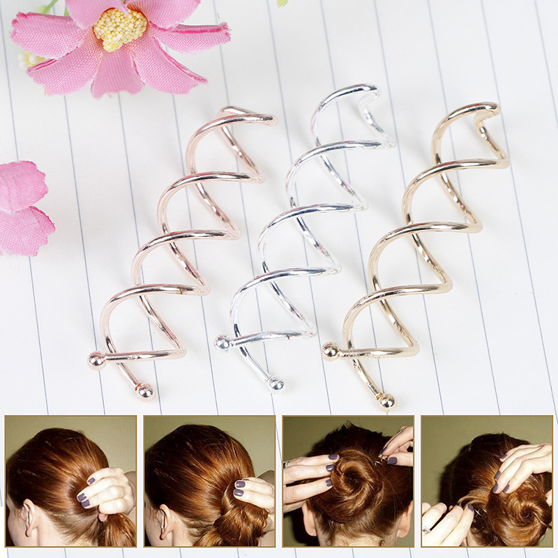 10pcs Spiral Twist Hair Pins Spin Screw Girls Hair Accessories Twist Hair Clips Hairpins Hair Pins For Women Bun Maker Headwear