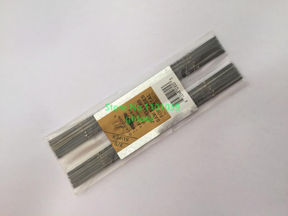 Livraison gratuite 144 pcs/pack Glardon Vallorbe lame de scie 4/0 taille bijoux lames de scie à vendre ghtool