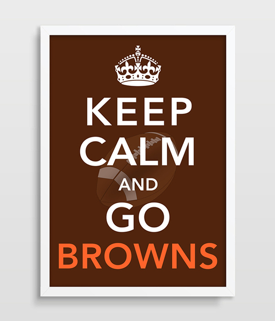 Cleveland Browns Keep Calm Football Print Home Decor Nfl And Go Man Cave