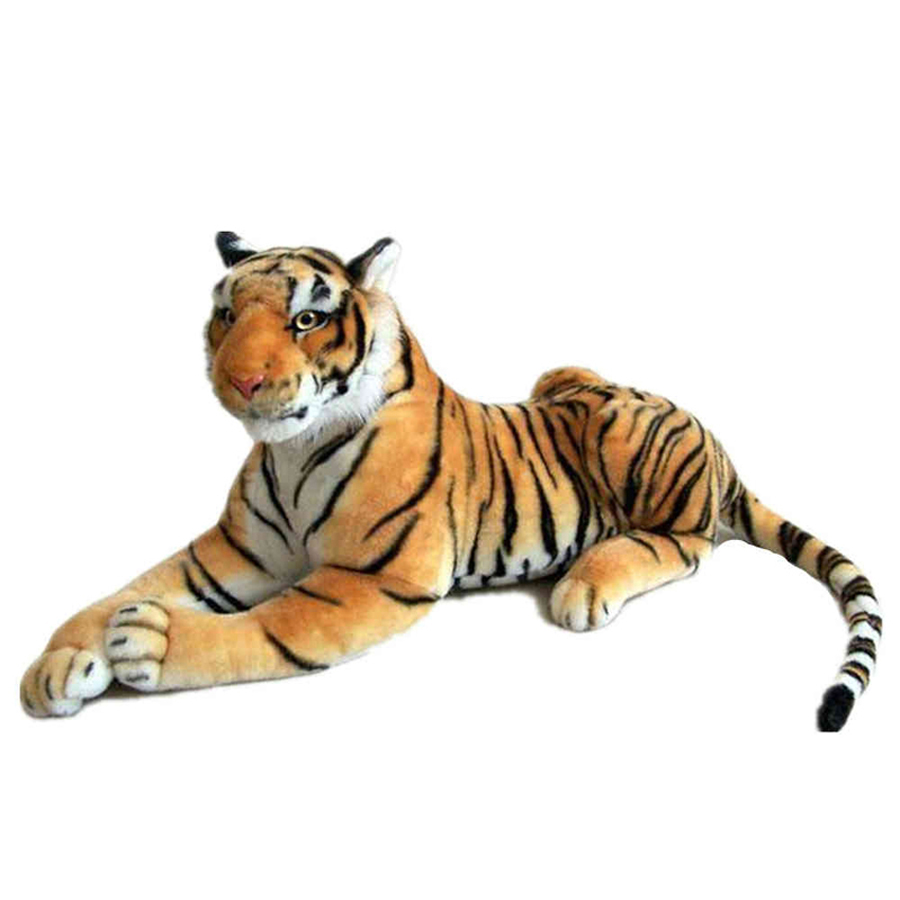 Giant Big Tiger Stuffed Plush Simulation Animal Dolls With Big Eyes Brinquedo Graduation Gift Knuffel Toys For Children 70G0602 fancytrader new style giant plush stuffed kids toys lovely rubber duck 39 100cm yellow rubber duck free shipping ft90122