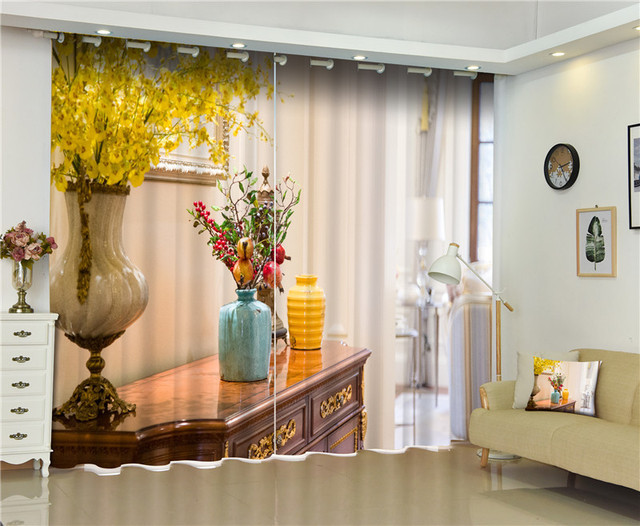 Ordinaire 2017Interior Corner Photo Blackout Window Drapes Luxury 3D Curtains For  Living Room Bed Room Office Hotel