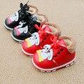 Bebé botas de invierno para la muchacha del bebé de la manera caliente de la pu leather dog shoes