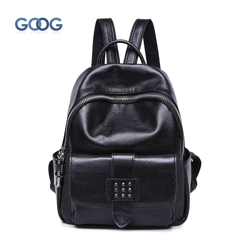 The new European and American fashion shoulder bag head layer of large capacity travel backpack package cylindrical personality
