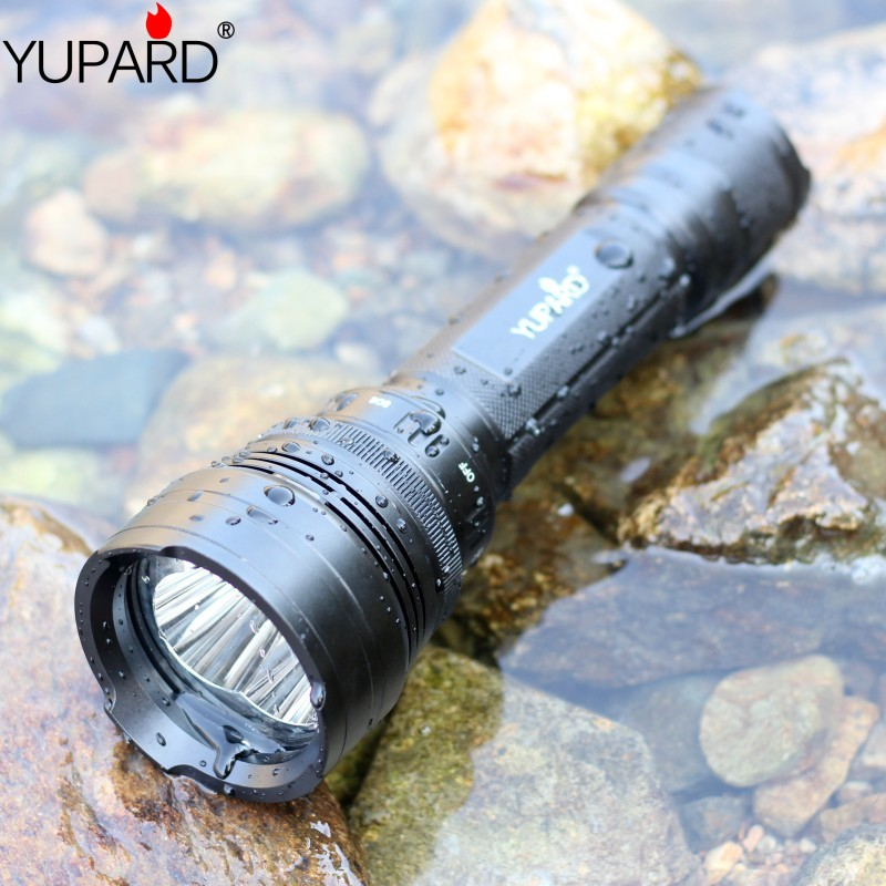 YUPARD Underwater Diving Waterproof flashlight torch 3*XM-L2 LED 3*L2 Flashlight+2*26650 4000mAh rechargeable Battery+Charger waterproof ultraviolet diving light 3x uv led lamp diving flashlight scuba torch dive lanterna pcb 26650 battery eu charger