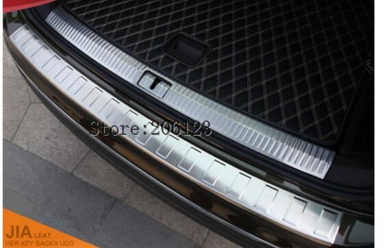 Car stainless steel Exterior+Interior Rear Trunk sill plate cover For VW Tiguan 2017 2018