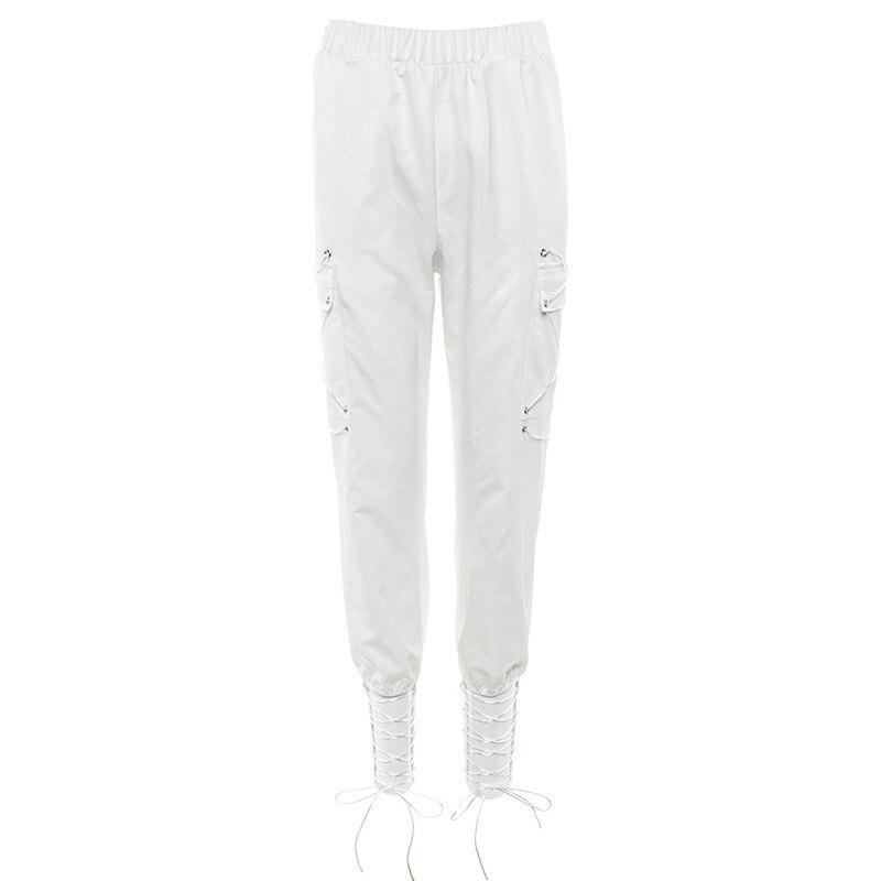 High Waist   Pants   Camouflage Loose Joggers Army Harem Camo   Pants   Women Streetwear Punk Black Cargo   Pants     Capris   Trousers XM480