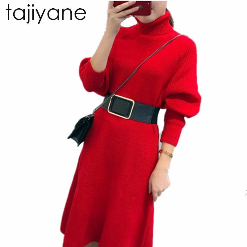ZVAQS 2018 Sweaterdress Knitted Belt Sweater Dress Sundress Winter Warm Smart Women Sweater Dresses Pullovers Snow Maiden LD177