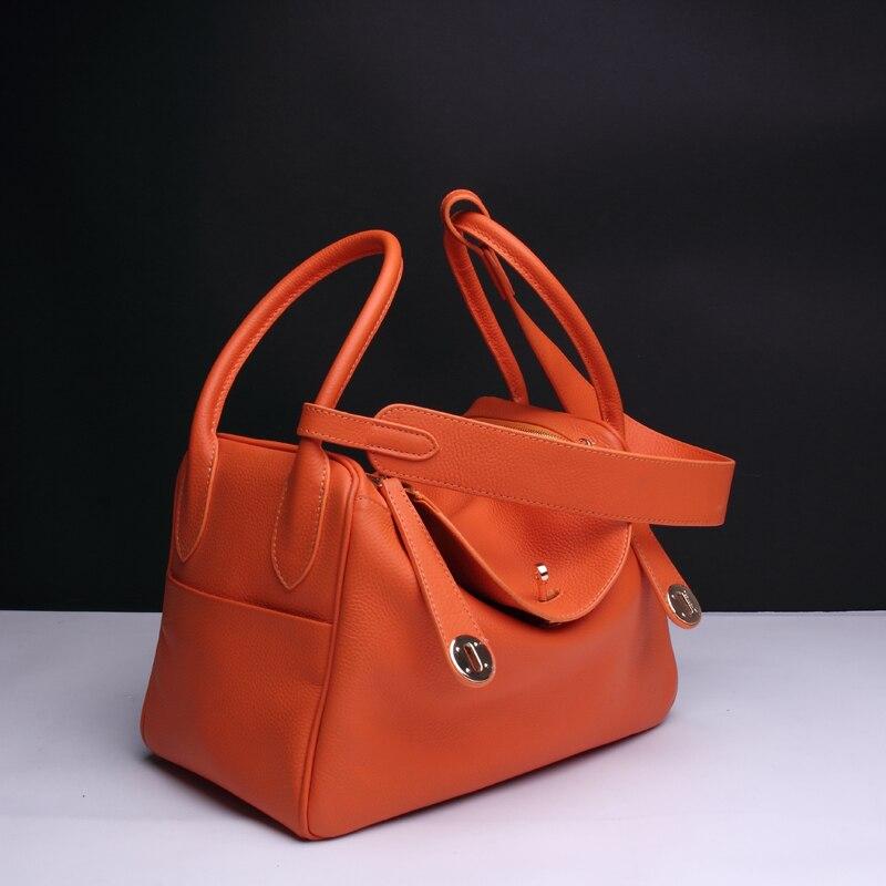 17 Цвета ~ 2018 г. новые туфли из натуральной кожи Для женщин сумка \ сумки модные классические дизайнерские сумка Женская тиснением сумка сумка