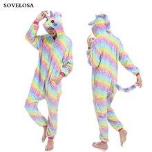 New Onesie Wholesale Animal Kigurumi Unicorn Onesies Adult Unisex Women Hooded Cosplay Sleepwear Winter Flannel Cartoon Pijama