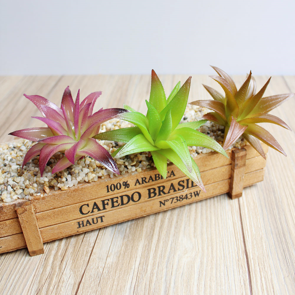 Amenmo 5 pcs Aloe Vara Micro-landscape Potted Arranging Accessories Artificial Soft Plastic Aloe Vera Succulent Plant