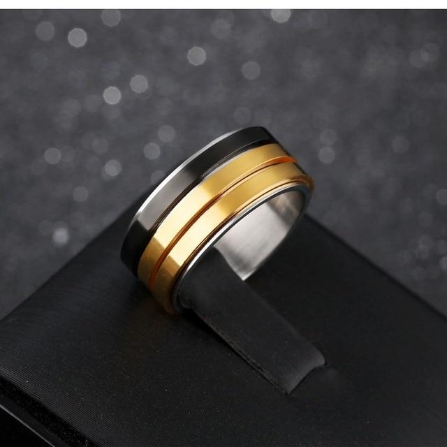 Фото кольцо мужское из титановой стали модное брендовое ювелирное цена