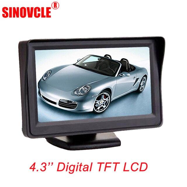 """SINOVCLE رصد سيارة 4.3 """"شاشة الرؤية الخلفية عكس كاميرا TFT شاشة الكريستال السائل HD الرقمية اللون 4.3 بوصة PAL/ NTSC"""