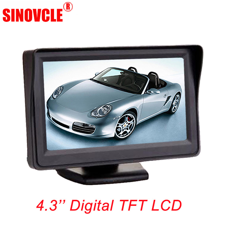 SINOVCLE Car Monitor 4.3 Screen For Rear View Reverse Camera TFT LCD Display HD Digital Color 4.3 Inch PAL/NTSC цена