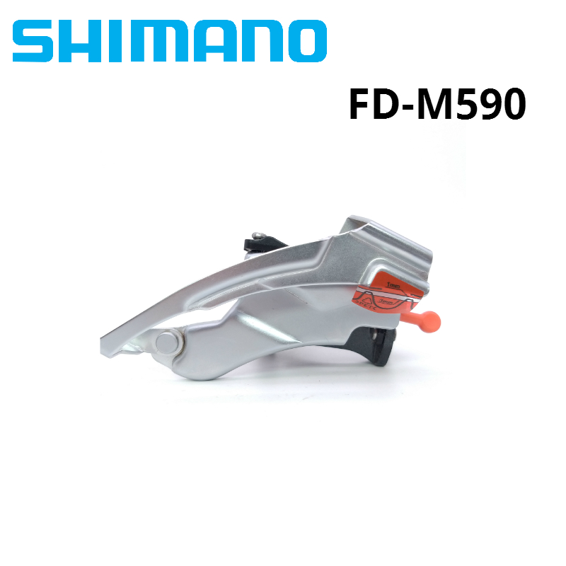 Shimano Deore FD-M590 Mountain Bike Front Derailleur 31.8//34.9mm 9 Speed