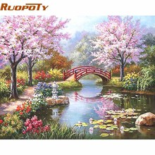 Unframed DIY Painting By Numbers Kit Coloring Paint On Canvas Handpainted Oil Home Decor For Artwork 40*50cm Fairyland