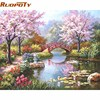 Unframed DIY Painting By Numbers Kit Coloring Paint On Canvas Handpainted Oil Painting Home Decor For
