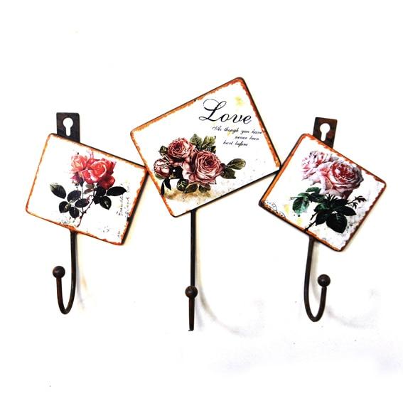 Rose decorativos percheros de pared vintage de hierro - Percheros pared vintage ...