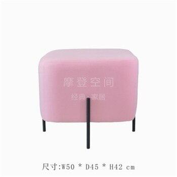 Moderner Stuhl Und Ottomane | 50*45cm Platz Make-Up Hocker Ottomane Sofa Stuhl Fußstütze 5 Farbe Kaschmir Tuch Abdeckung Mit 304 Edelstahl