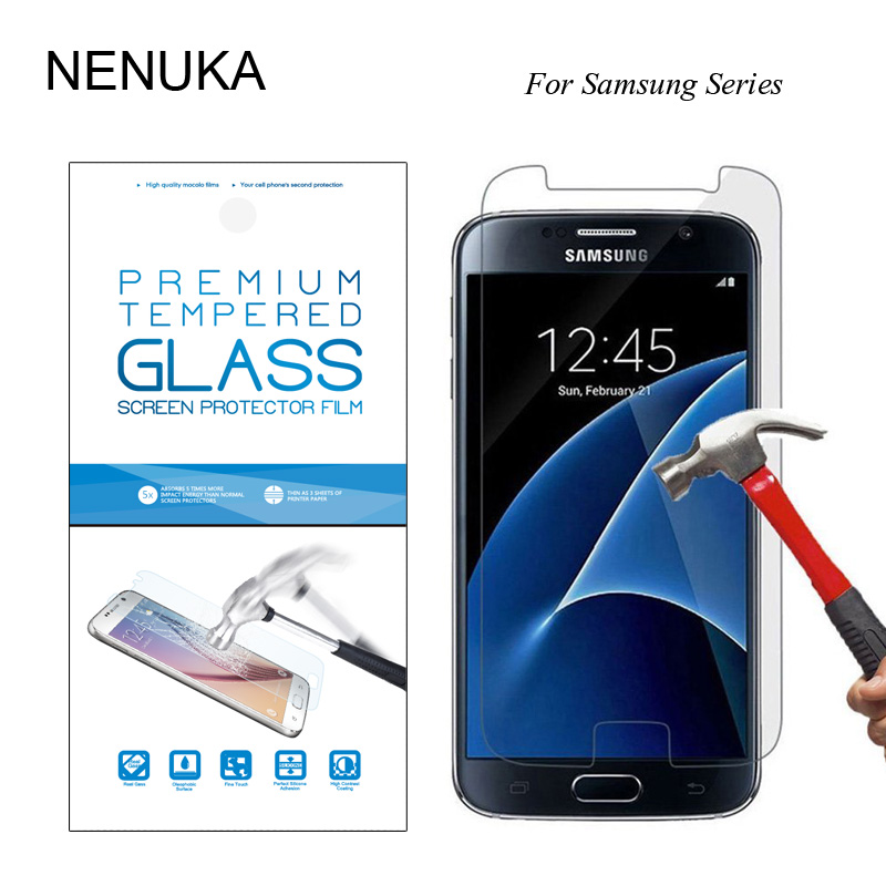 Tempered Glass Sreen Protector For Samsung Galaxy A 3 5 7 J 1 3 5 7(2016 TYPE)Protective Film A310F A510F A710F+Retail packing