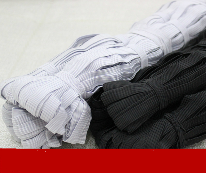 0 5 1cm wide black and white flat elastic belt DIY garment accessories in Elastic Bands from Home Garden