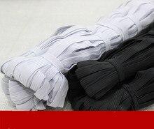 0.5-1cm wide black and white flat elastic belt DIY garment accessories