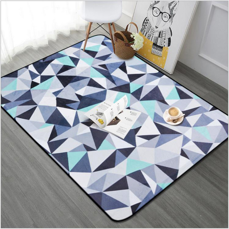 O SHI tapis de voiture motif géométrique abstrait décor à la maison tapis de sol 100CM * 150 CM/Table et chaise tapis de coussin - 2