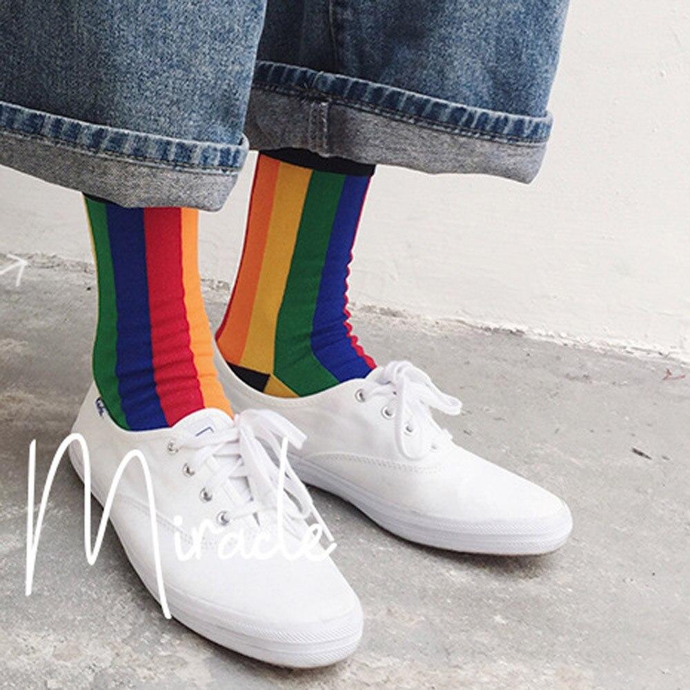 Underwear & Sleepwears Unisex Street Skateboard Striped Socks Harajuku Meias Fashion Plaid Hip-hop Street Dance Skateboard Stockings Mens Women Socks Lovely Luster