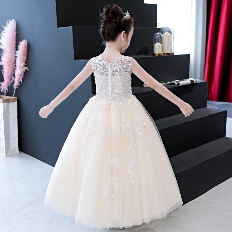 5e210b7e2e Summer New Kids Girls Fancy Lace Dress Children Bridesmaid Outfits Elegant  Dress for Birthday Evening Party Gown Princess Dress